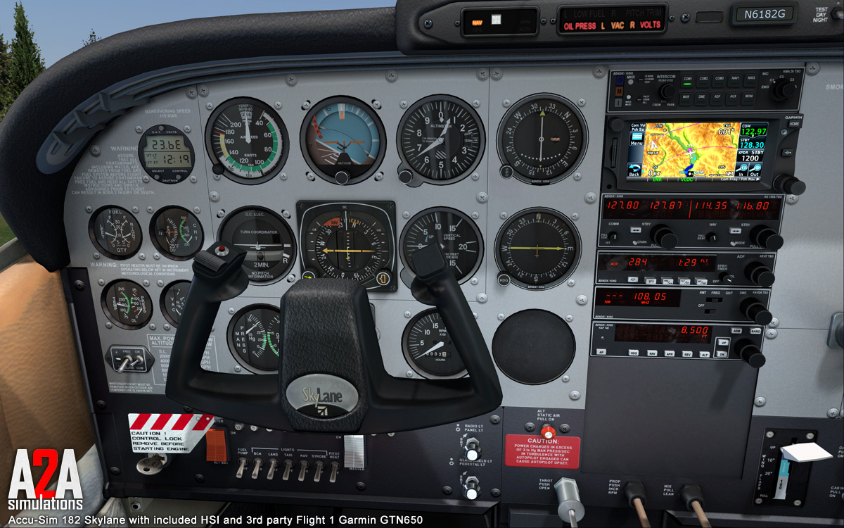 Stock and 3rd Party Avionics Options - The A2A Simulations